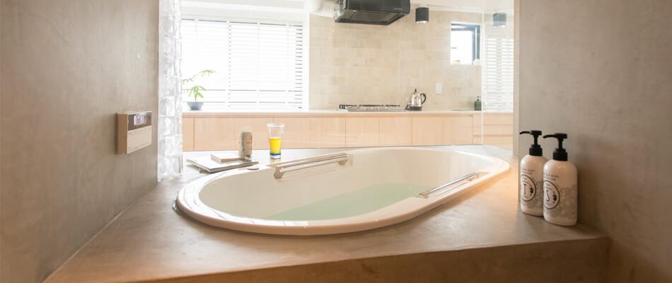 代々木上原事例の浴室