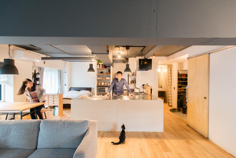神奈川県大倉山60㎡のリノベーション事例猫と夫婦の暮らし