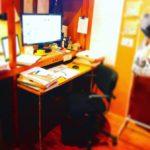 駒込事務所2階のデスク