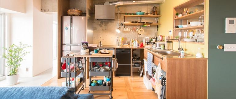 リノベーション事例のキッチン