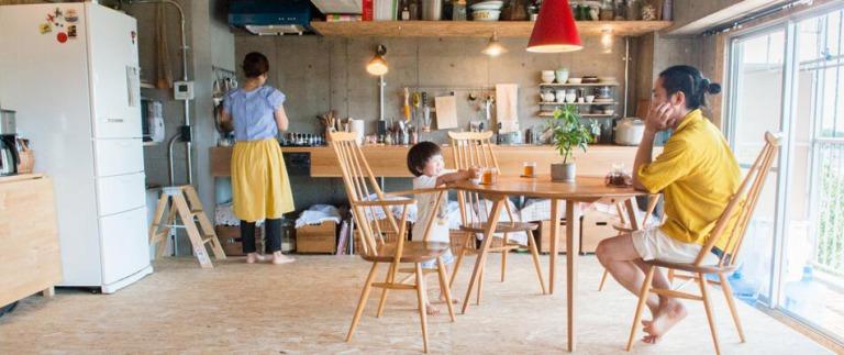 中古マンションをリノベーションした神奈川相模原リノベ事例のダイニングキッチン