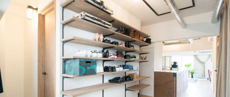 志木リノベ事例の靴棚