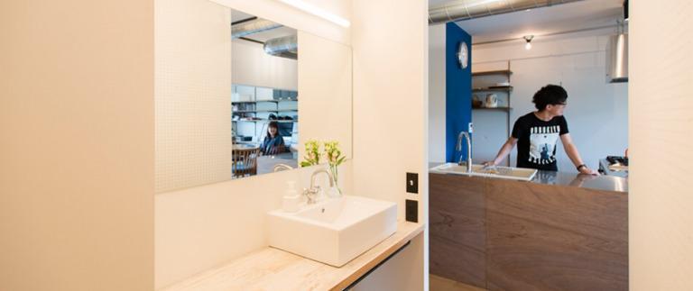 志木リノベ事例の洗面台