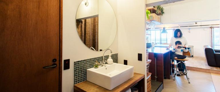 武蔵浦和リノベ事例の洗面台