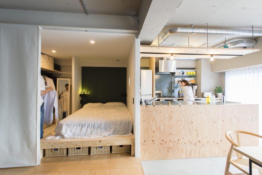 柏のベッドルーム