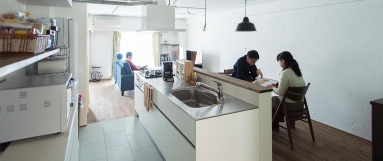 武蔵浦和の中古マンションのリノベーション事例K邸キッチン