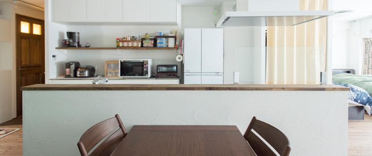 武蔵浦和の中古マンションのリノベーション事例K邸キッチンカウンター