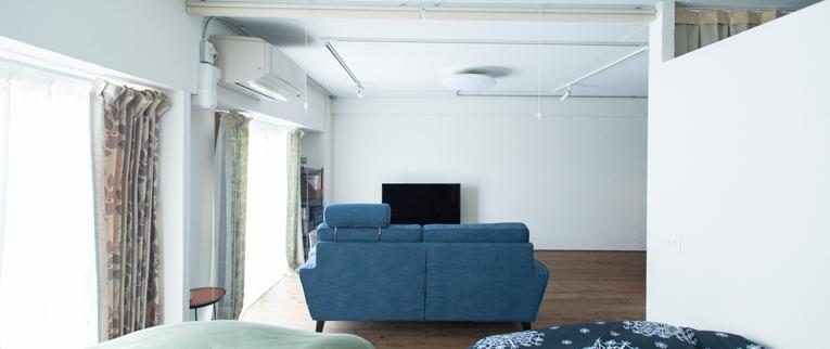 武蔵浦和の中古マンションのリノベーション事例K邸ベッドルームとリビング