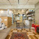 中古マンションをリノベーションした東京中村橋の事例リビング