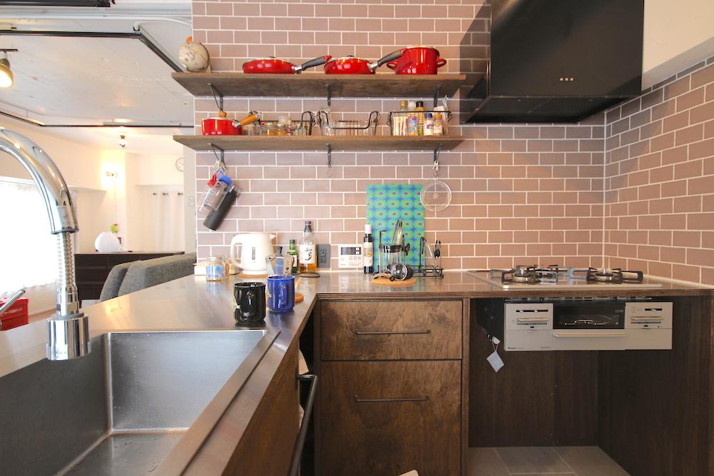 上町の中古マンションのリノベーションのキッチン