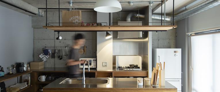 国立の中古マンションのリノベーション事例のキッチン