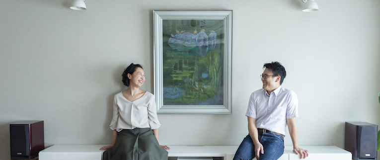 赤塚の中古マンションのリノベーション後の夫婦