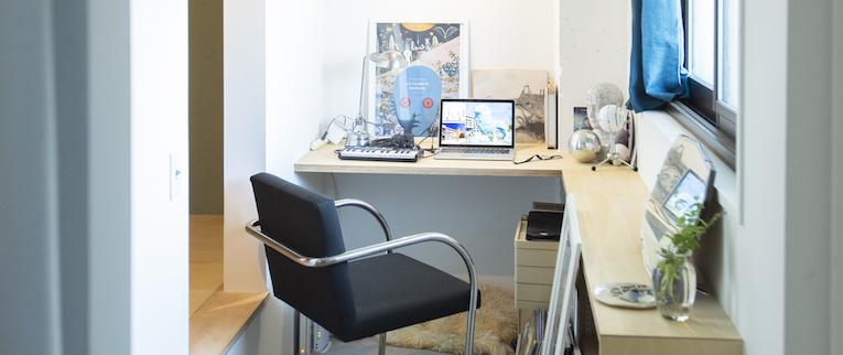 金町の中古マンションのリノベーション後の書斎