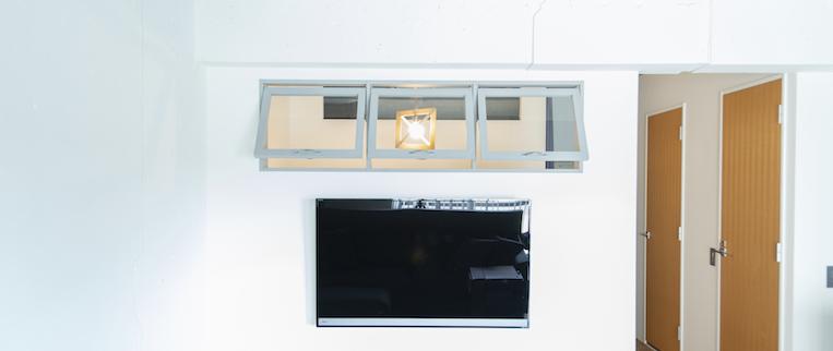 板橋本町の中古マンションのリノベーション後の壁付TV