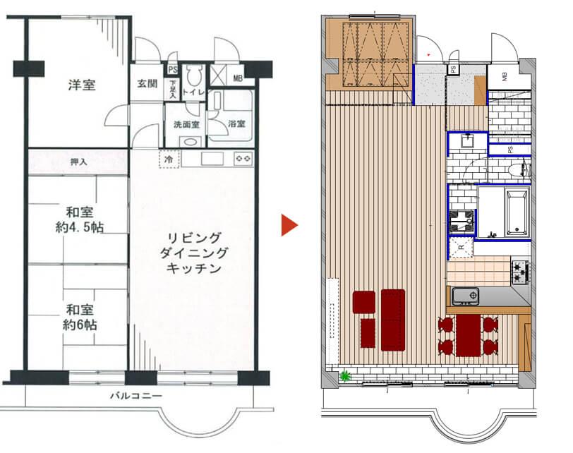 和室リフォーム図面3