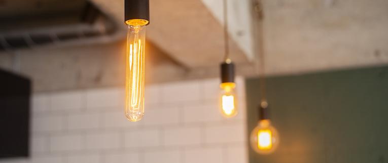 橋本の中古マンションのリノベーション後のダインング照明