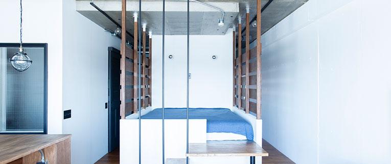 二子新地のの中古マンションのリノベーション後のベッドルーム