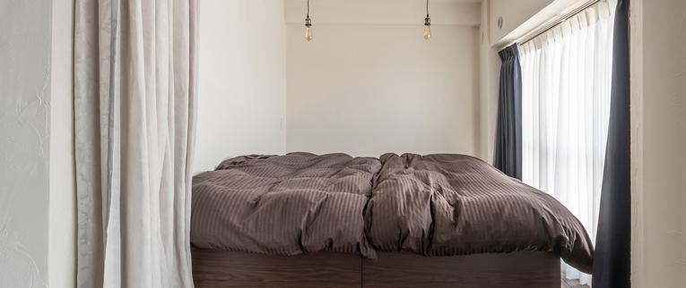 武蔵浦和の中古マンションのリノベーション後のベッドルーム