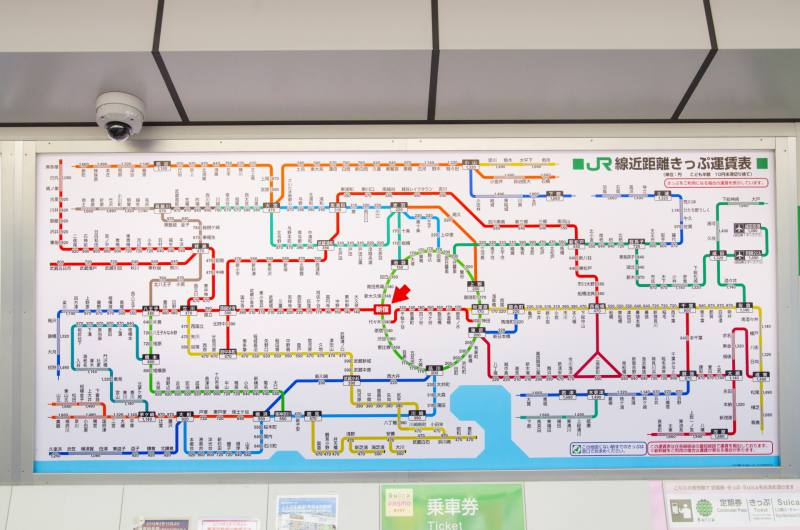 東京の路線図