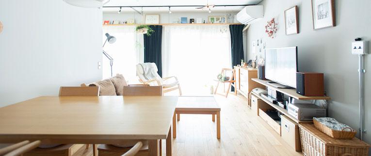 東浦和の中古マンションのリノベーション後のリビング