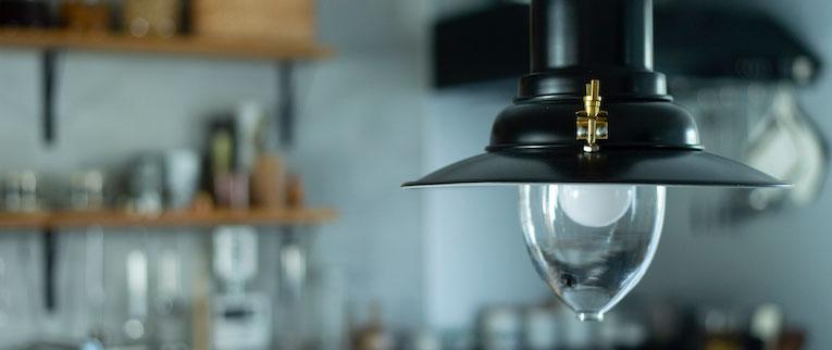 東浦和の中古マンションのリノベーション後の照明とキッチン