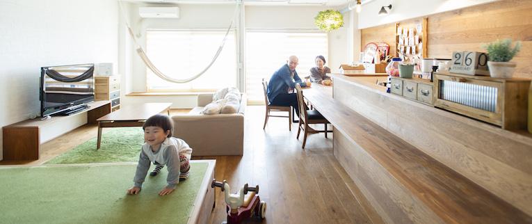 武蔵浦和の中古マンションのリノベーション後のリビング
