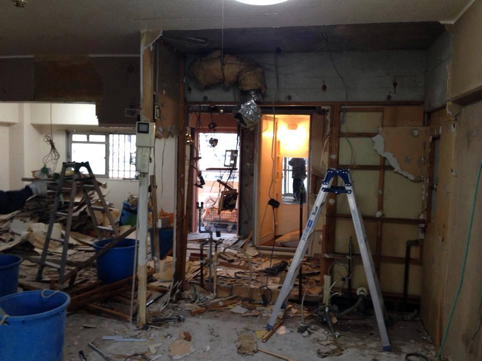 壁・天井の解体工事