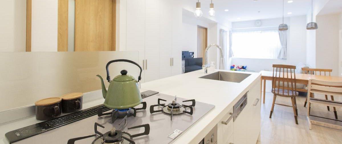 駒沢大学のリノベーション後のキッチン