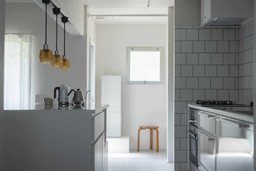 壁付けキッチン事例01