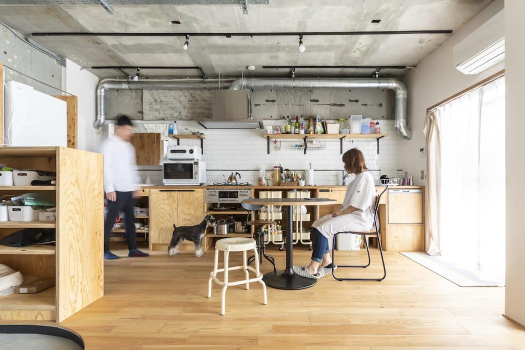 壁付けキッチン事例12