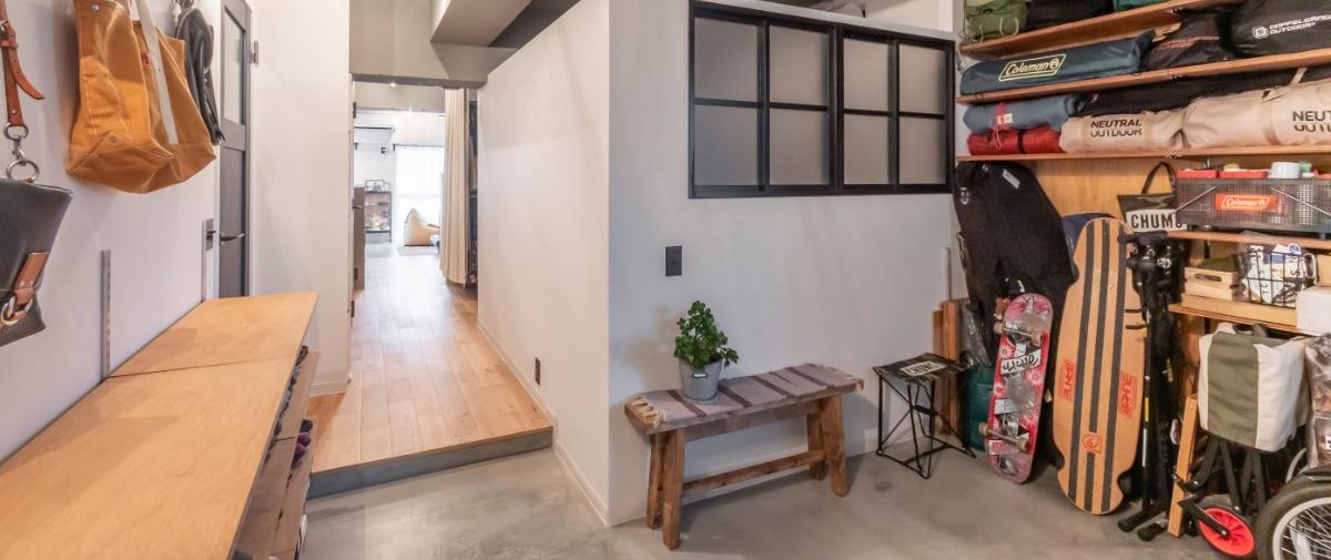 北戸田の中古マンションのリノベーション後の土間玄関