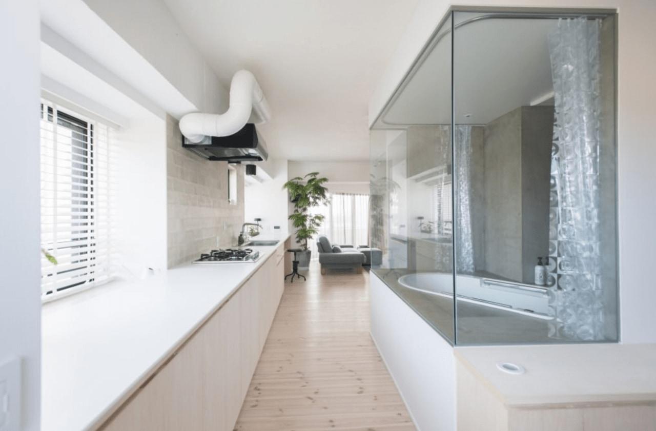 中古マンションのリノベーション後のバスルーム