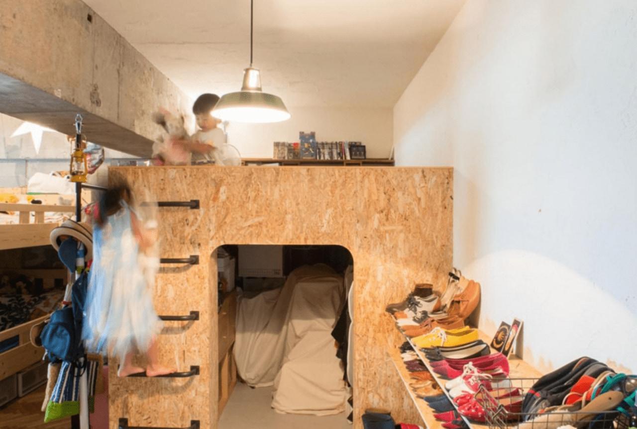 上部がベッドのロフト