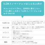 1LDKのリノベーションの特徴