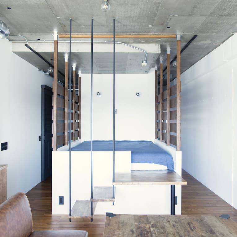 二子新地の中古マンションのリノベーション後のベッドルーム