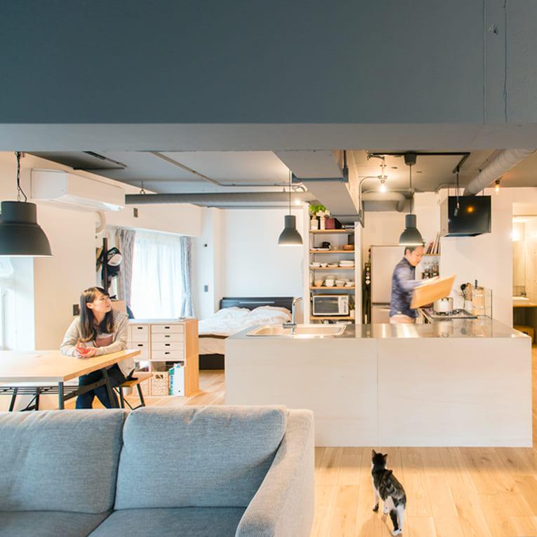 大倉山の中古マンションのリノベーション事例のキッチン