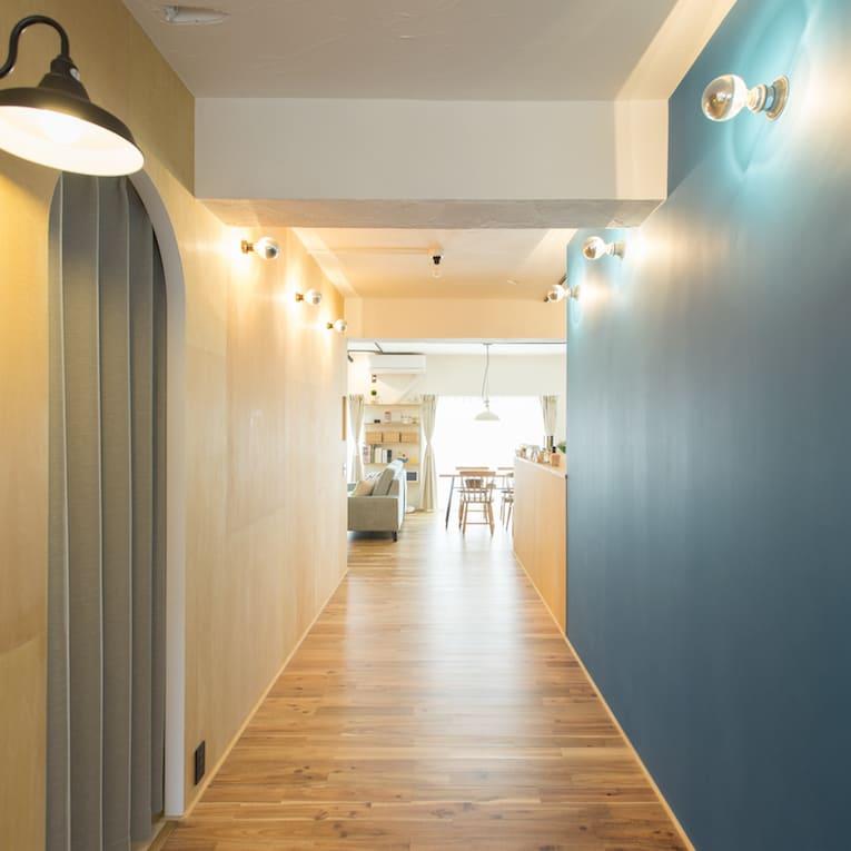 宮崎台の中古マンションのリノベーションの廊下