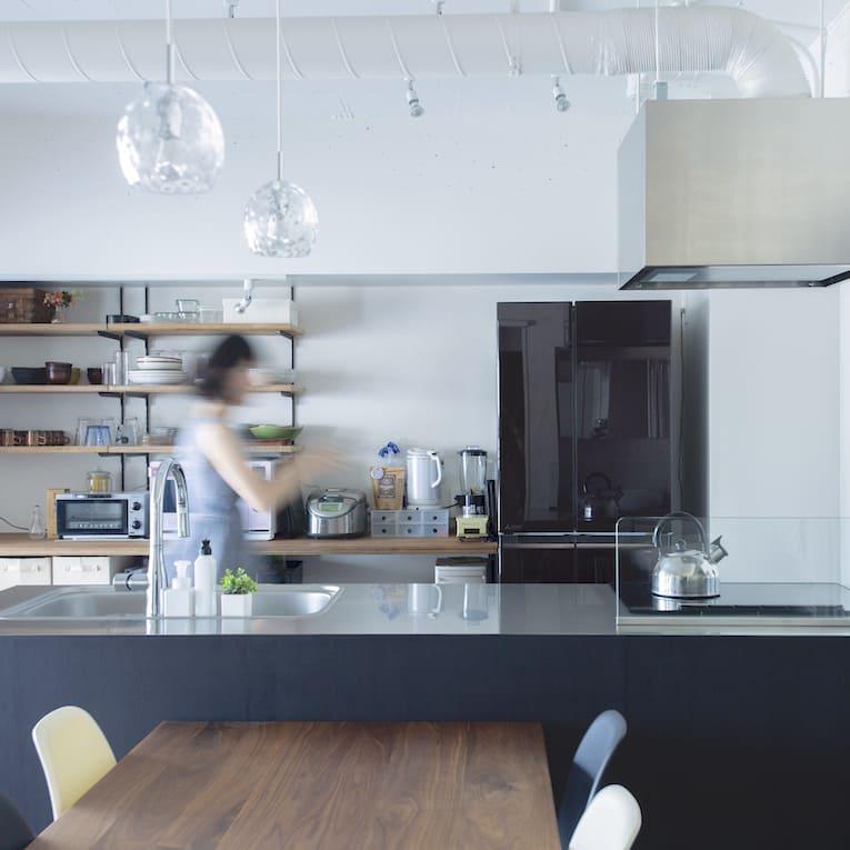 志村三丁目の中古マンションのリノベーション後のキッチン
