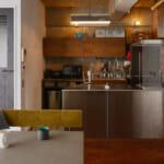 学芸大学の中古マンションのリノベーション後のダイニングとキッチン