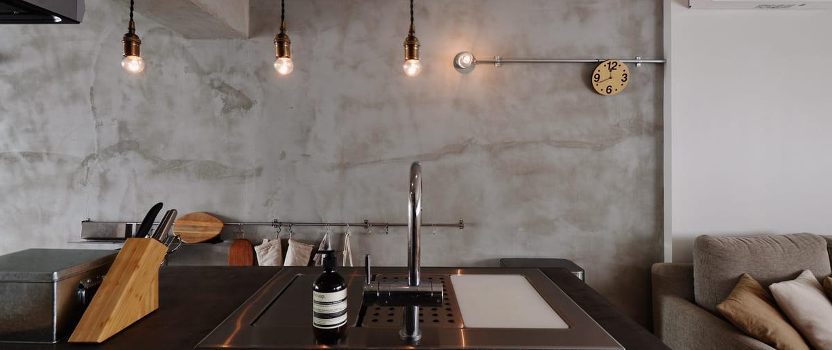 祖師ヶ谷大蔵の中古マンションのリノベーション後のキッチン正面