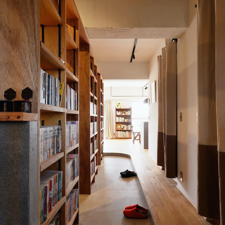 門前仲町の中古マンションのリノベーション後の本棚