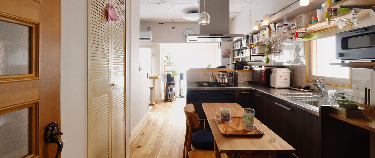 大塚の中古マンションのリノベーション後のキッチン