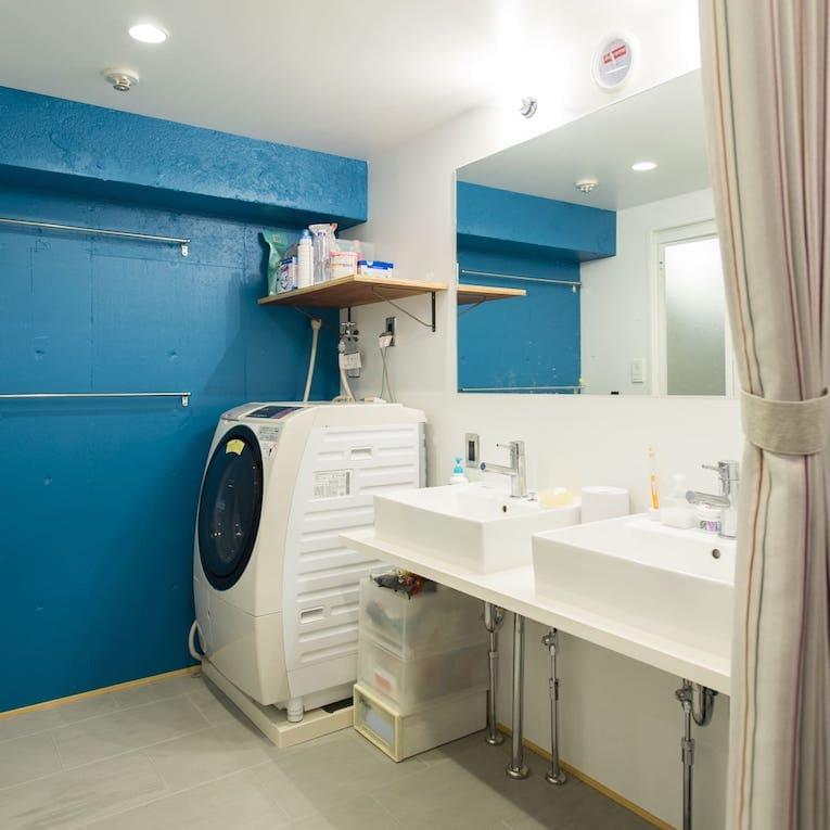 志木の中古マンションのリノベーション後の洗面所