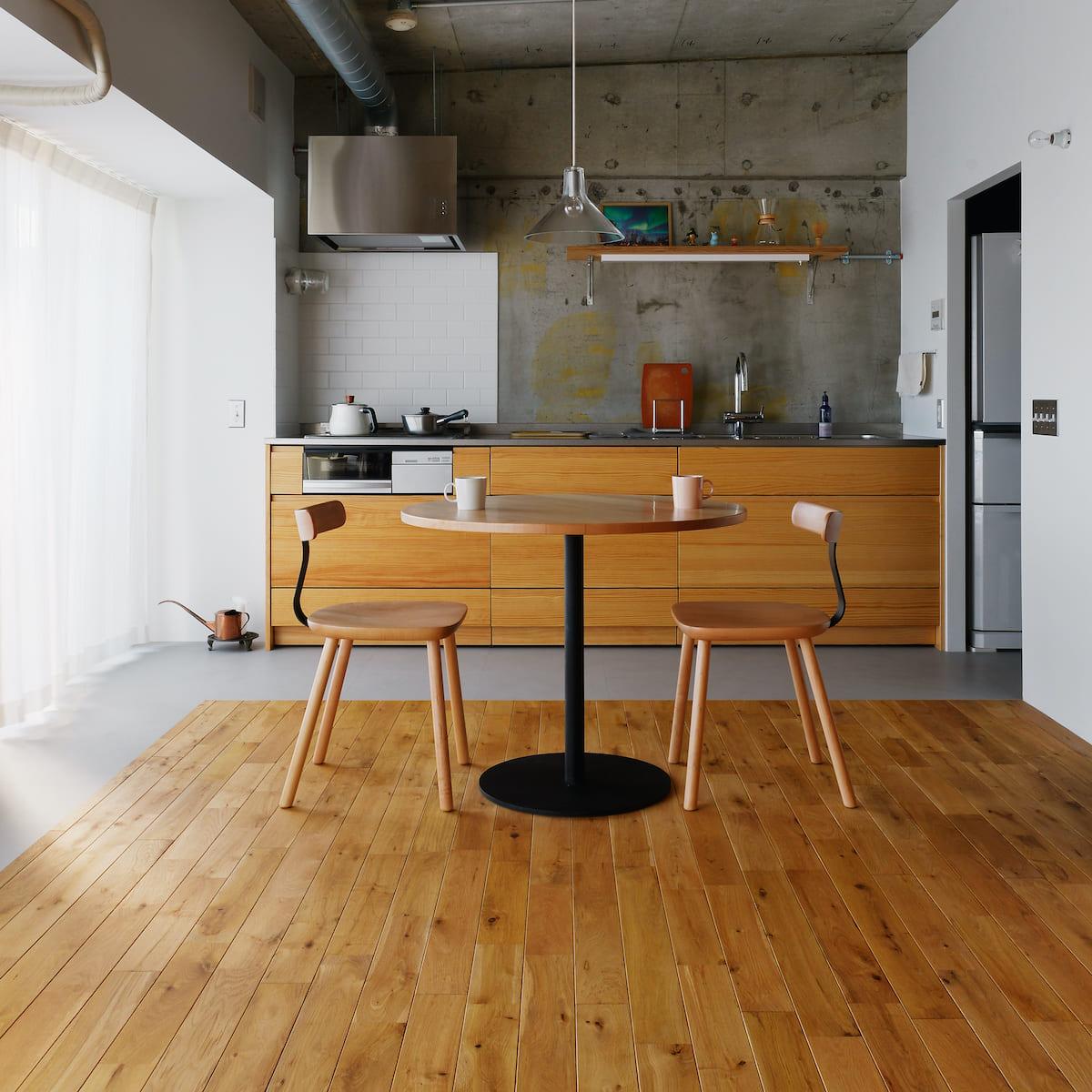 鶴見市場の中古マンションのリノベーション後のダイニングとキッチン
