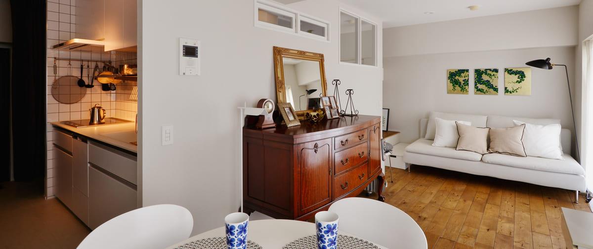 八丁堀の中古マンションのリノベーション後の家具