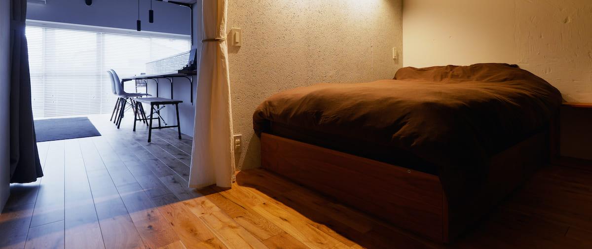 方南町の中古マンションのリノベーション後のベッドルーム