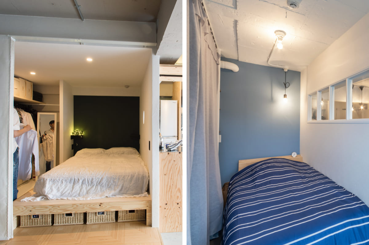 駒込の販売中古マンションの寝室のリノベーションアイデア