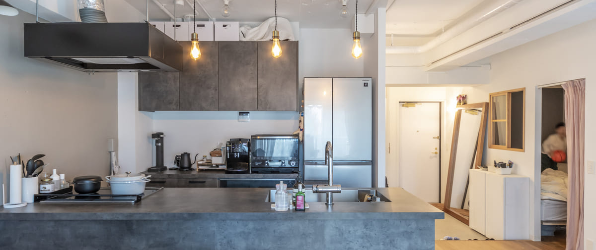 鷺ノ宮の中古マンションのリノベーション後のキッチン