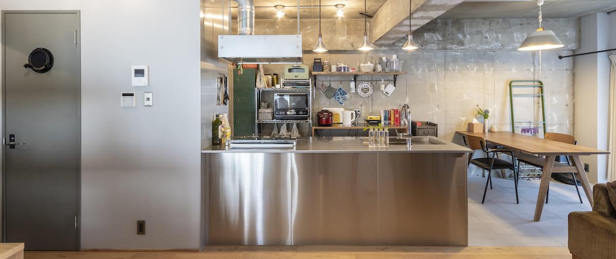 調布の中古マンションのリノベーション後のキッチン
