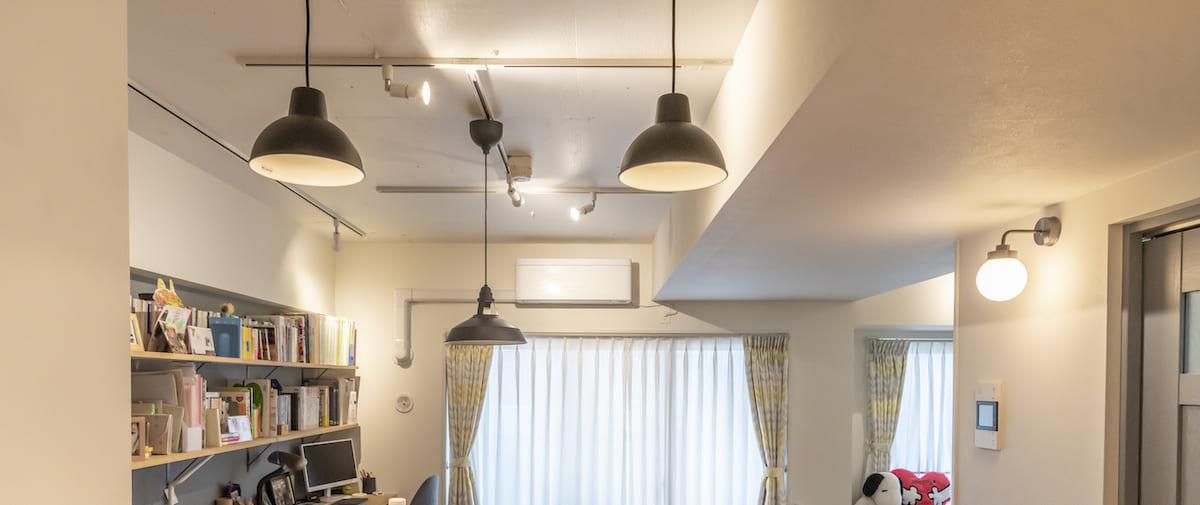 鮫洲の中古マンションのリノベーション後の照明